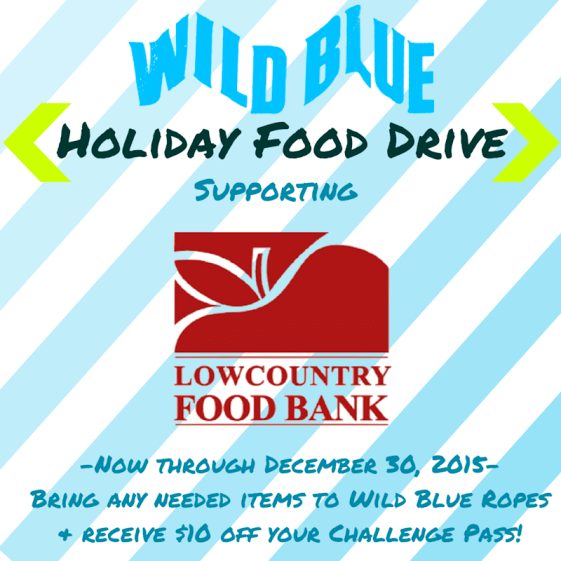 Wild Blue Ropes Adventure Park Holiday Food Drive