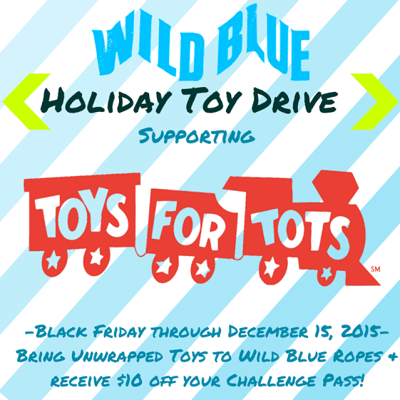 Wild Blue Ropes Adventure Park Holiday Toy Drive