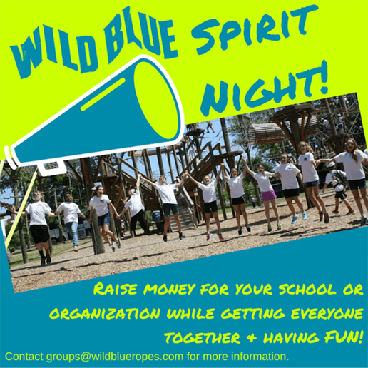 Wild Blue Ropes Adventure Park Spirit Night