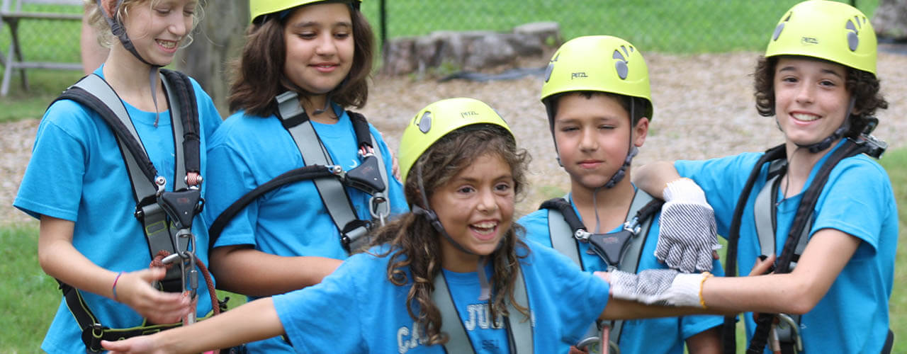 Wild Blue Ropes campers having fun