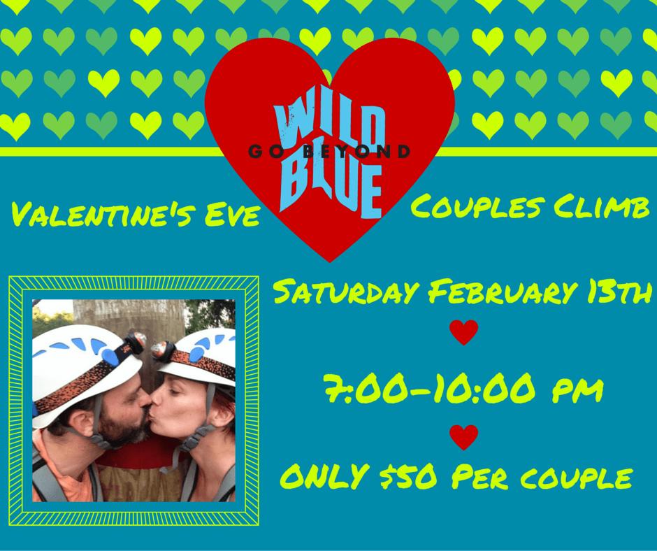 wild blue ropes valentines eve couples climb
