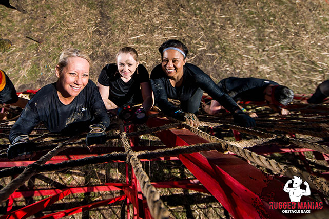 Three women at Rugged Maniac