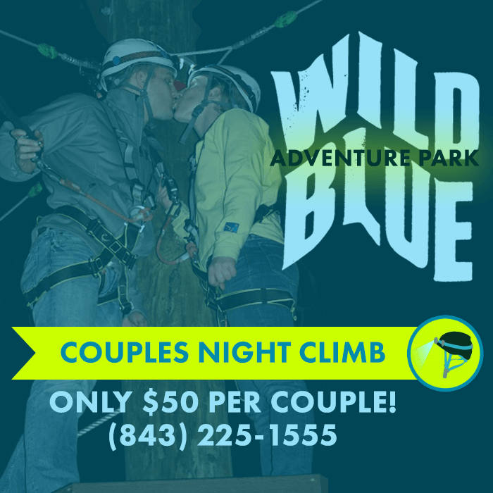 Couples night climb at Wild Blue Ropes Adventure Park