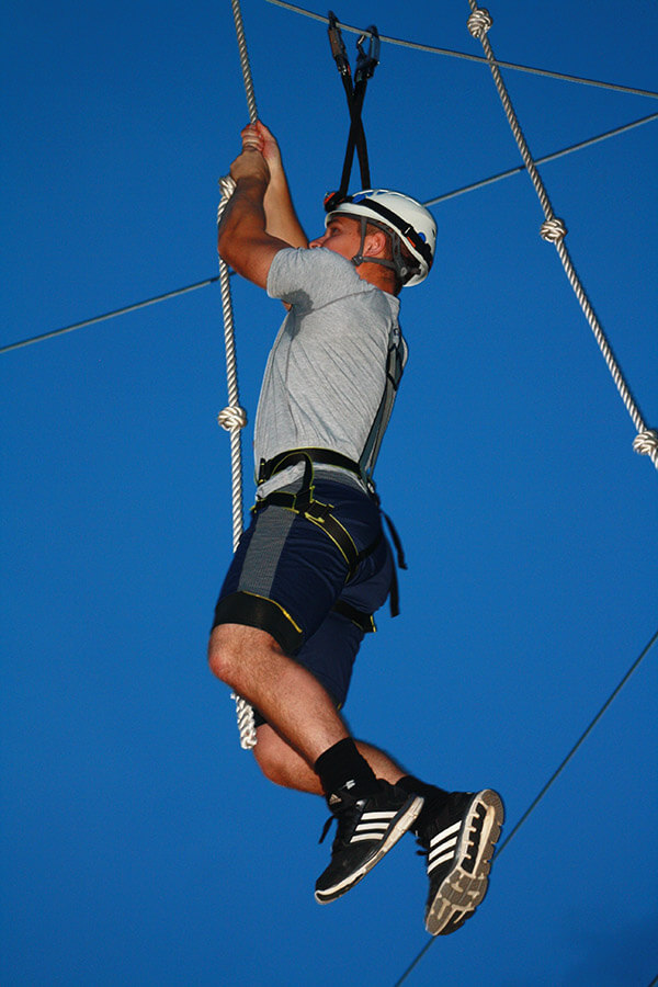 Challenge by Choice at Wild Blue Ropes Adventure Park