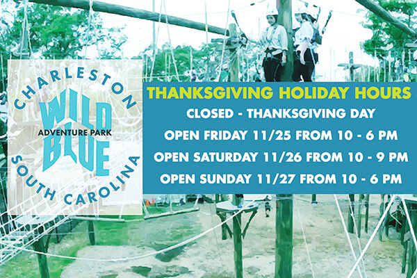 Wild Blue Ropes Thanksgiving Hours