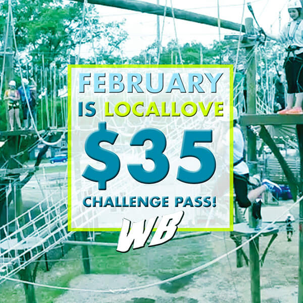 Wild Blue Ropes February Locals Discount