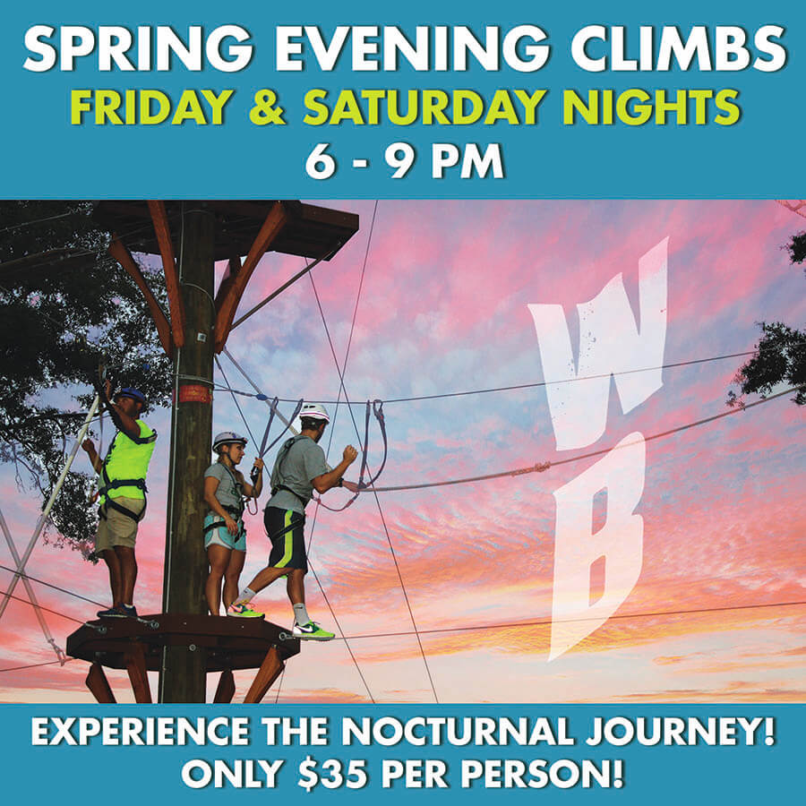 Wild Blue Ropes Spring Night Climbs