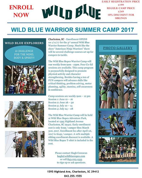 Wild Blue Ropes Warrior Summer Camp 2017