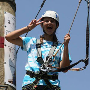 Girl having fun at Wild Blue Ropes
