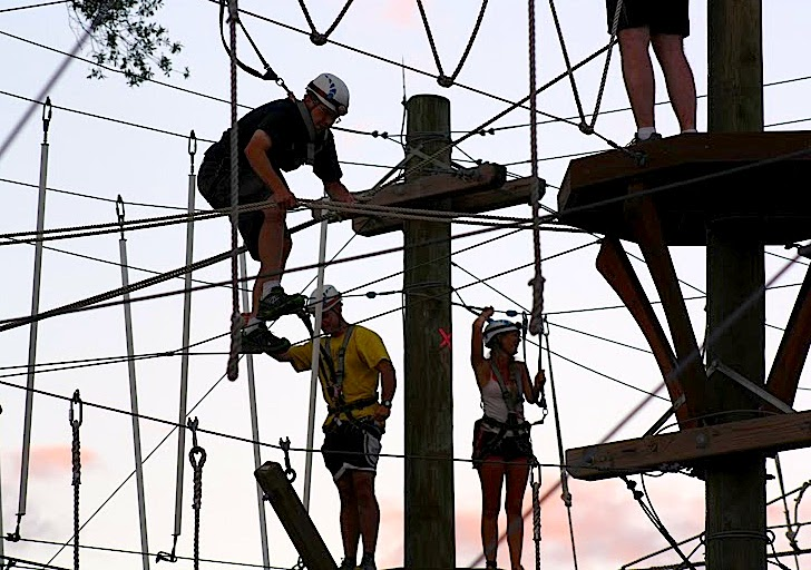 night climbing at wild blue ropes