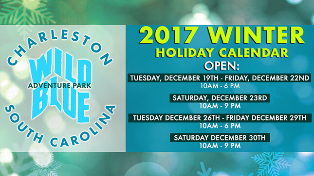 Wild Blue Ropes Adventure Park seasonal event graphic