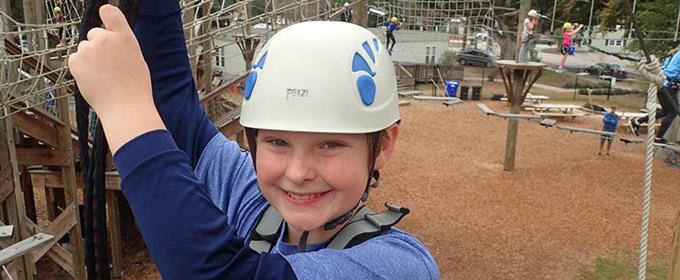 Boy having fun at Wild Blue Warrior Camp