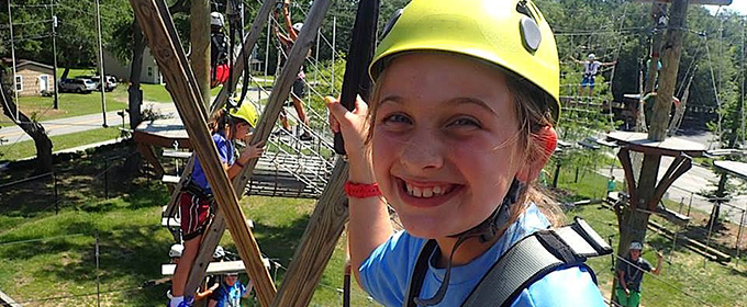 Girl having fun at Wild Blue Warrior Camp