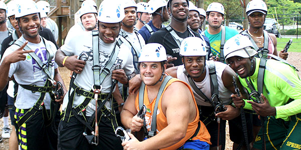 Citadel Football Team at Wild Blue Ropes