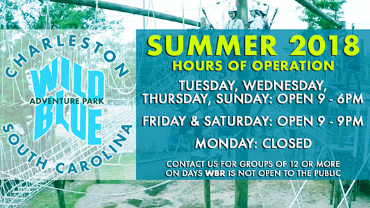 Wild Blue Ropes Summer Hours