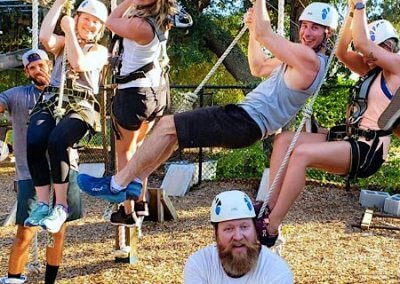 family outing, wild blue ropes, ropes course, charleston attraction