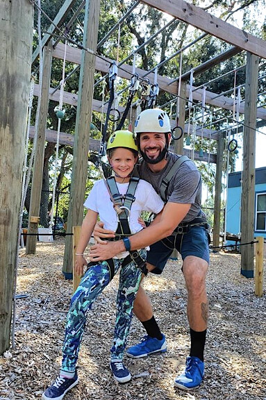 dad daughter date, wild blue ropes, ropes course, charleston attraction